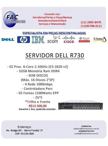 Servidor Dell R730/02.proc Six-core/32gb Ram Ddr4