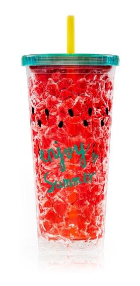 Vasos Con Gel Refrigerante Antiderrames Con Sorbete Y Tapa
