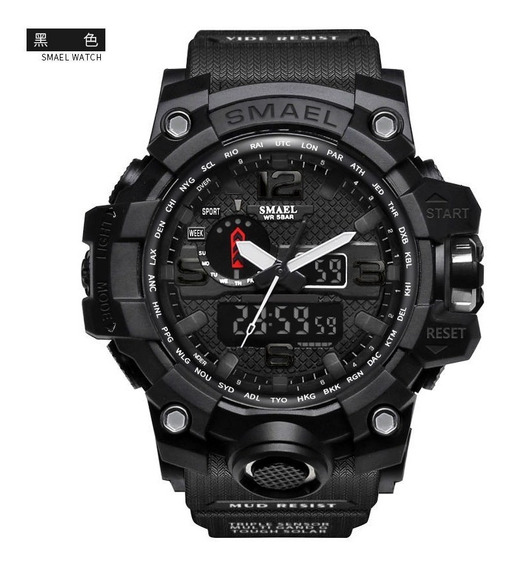 Relógio Masculino Militar Smael 1545 Shock S Dual Time