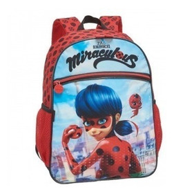 Mochila Escolar Infantil Ladybug Miraculous Joaninha Origina