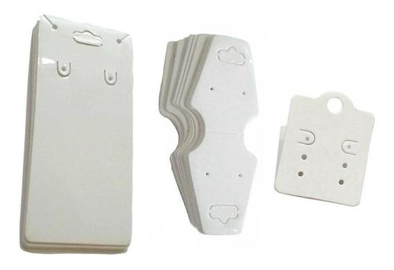 Kit 150 Peças Tag Para Bijuterias 3 Modelos Branco
