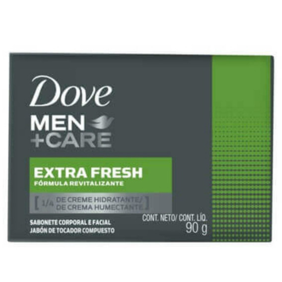 Kit 6 Sabonete Em Barra Dove 90g Men Care Clean Extra Fresh