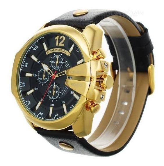 Relógio Curren Masculino Original Dourado 8176 Resi. 30m