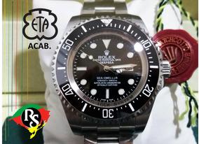 Relógio Deepsea 44mm Preto Cerâmica Safira Automático