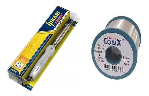 Kit Ferro De Solda (power 80 Hikari ) + Cobix 500 Gramas.