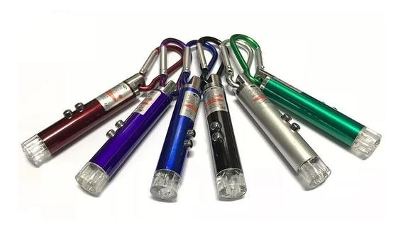 Puntero Laser Rojo Con Linterna Uv Violeta 3 En 1 Llavero