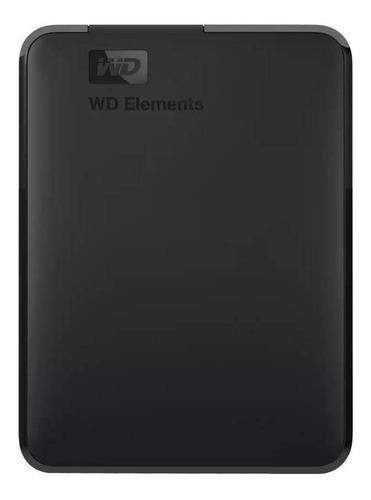 Imagen 1 de 3 de Disco duro externo Western Digital WD Elements WDBUZG0010BBK 1TB negro