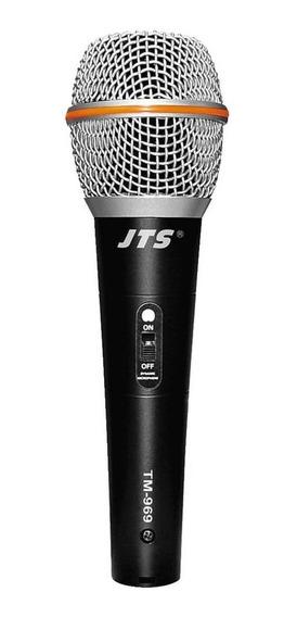 Microfone Dinâmico Para Vocal Jts Tm-969
