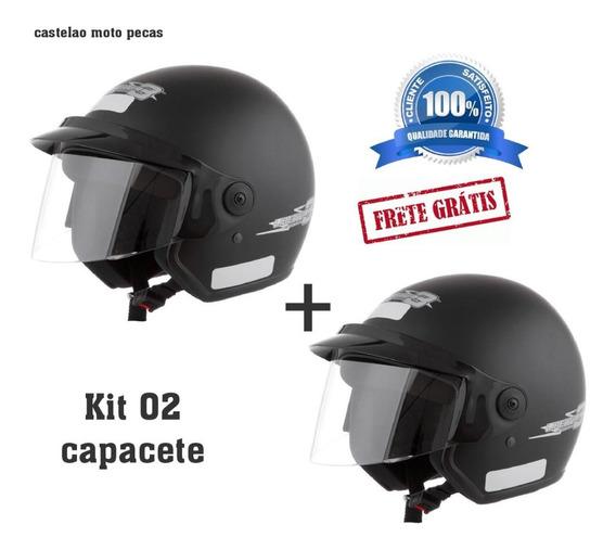 Capacete Kit 02 Theer Aberto Pro Tork Preto Fosco