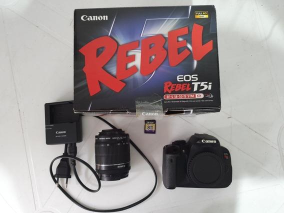 Kit Câmera Canon T5i + Lente 18-55 Stm 2 Baterias
