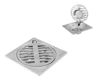 Coladera 10 X 10 Cm Cuadrada Para Baño Coladera De Aluminio