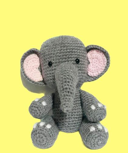 Elefante Tejido Amigurumi Muñeco Crochet