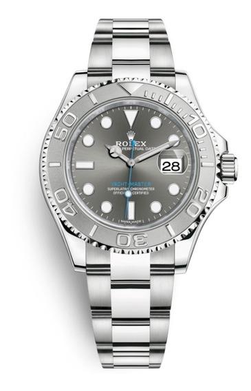 Reloj Rolex Yacht-master Gris Y Plateado Automático R78