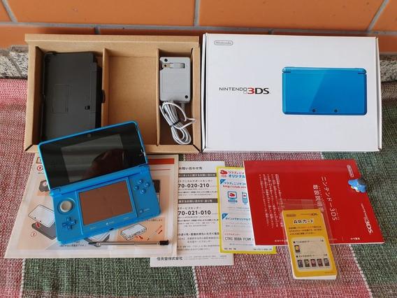 Nintendo 3ds Console Azul Japonês Completo