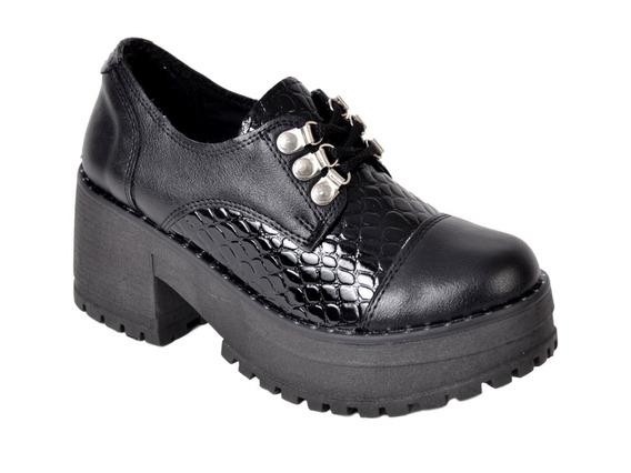 Zapato Mujer Charol Savage 100s Plataforma Cordon Moda