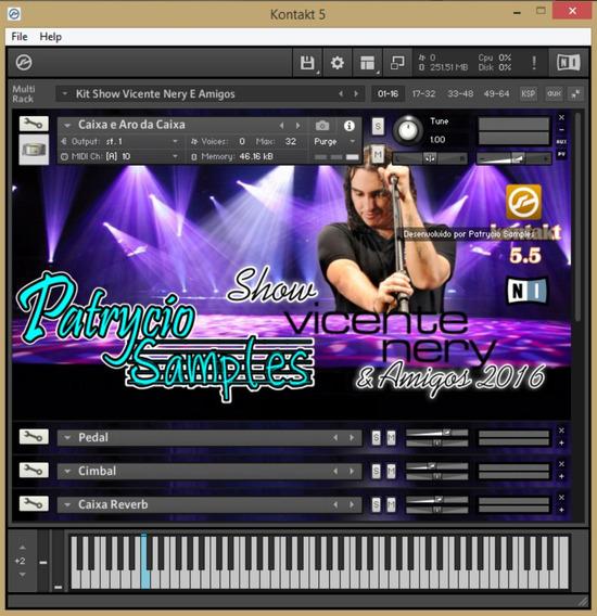 Kit Vicente Nery Para Kontakt 5 Ritmo Yamaha (envio Em Link)