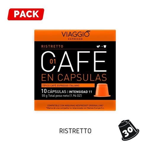 Pack 30 Cápsulas Café Viaggio Ristretto Para Nespresso®
