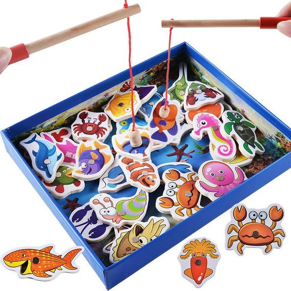 Juguete Magnético Bebé Pesca Conjunto De Biología Marina