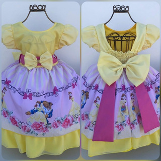 Vestido Temático Sublimado - Bela E A Fera