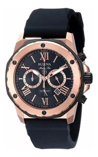 Reloj Bulova 98b104 Marine Star Crono Rosé , Usado