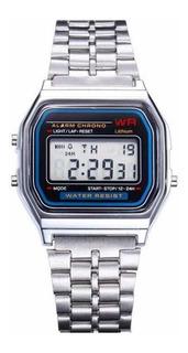 Reloj Pulsera Unisexos Diseño Deportivo Cronómetro Acero