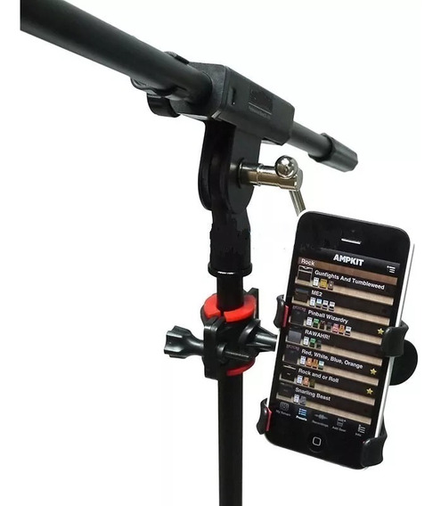 Suporte Celular Smartphone P/ Pedestal De Microfone Gravação