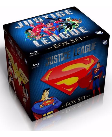Caixa Box Blu-ray Liga Da Justiça + Liga Sem Limites