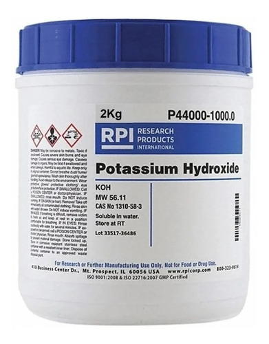 Hidróxido De Potasio Potasa Caustica - kg a $25000