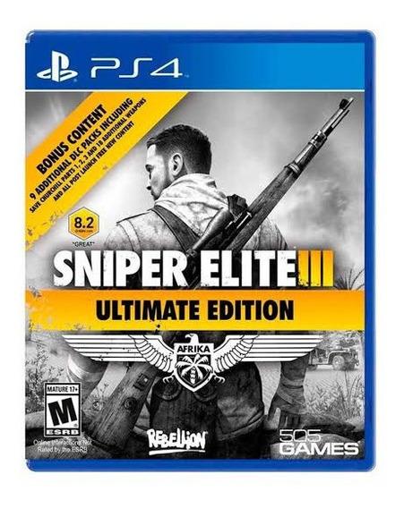 Sniper Elite 3 Ultimate Edition Afrika (mídia Física) Ps4