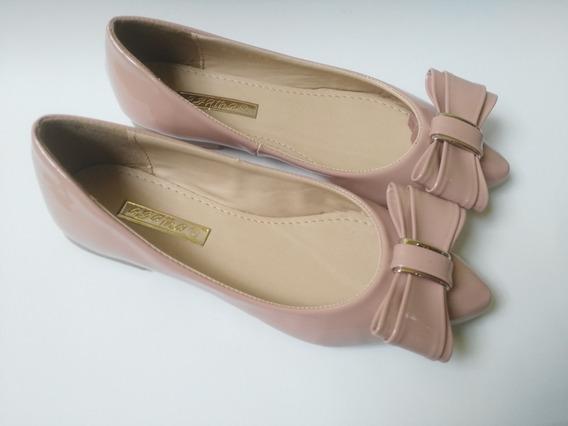 Zapato Dama - Valerinas Flats Moño Rosa