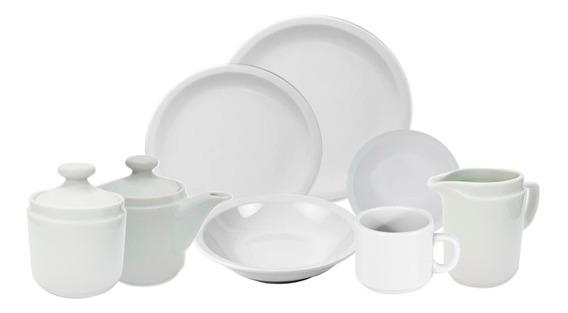 Set Vajilla 43 Piezas | Porcelana Blanca Tsuji De Primera