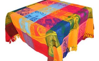 Mantel Mexicano Calendario Maya 1.5 X 1.5 Mts