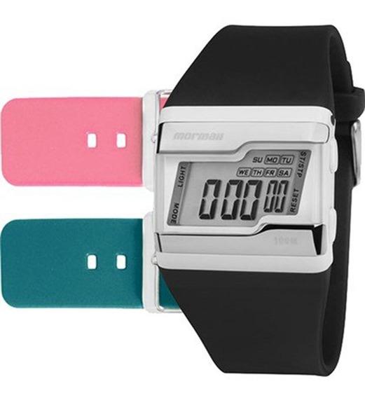 Relógio Mormaii Feminino Digital Troca Pulseiras Fz/t8j