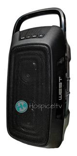 Parlante Bluetooth Inalambrico West Outdoor Manija Aux Mp3