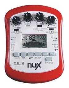 Pedaleira Para Guitarra De Efeito Portátil Pg2 Nux.