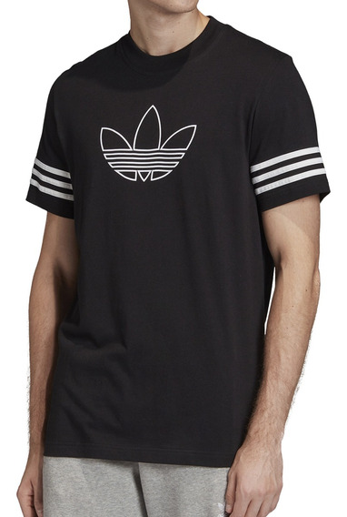 Remera adidas Originals Moda Outline Tee Hombre Ng/bl