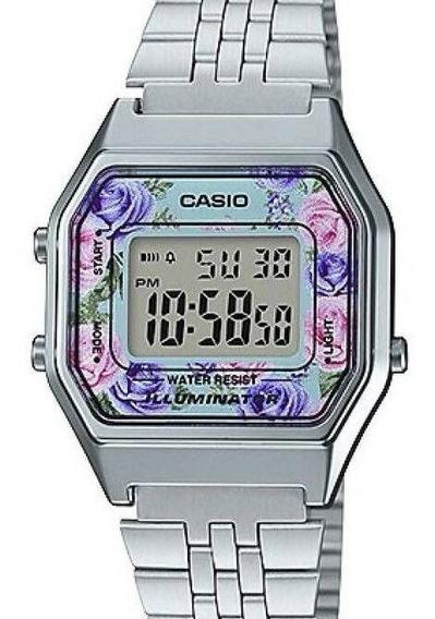 Relógio Casio Feminino Vintage Floral La680wa-2cdf-br