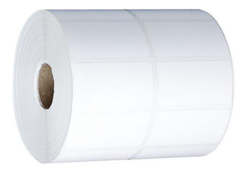 Etiqueta Couche 40x25 Mm 2 Colunas Branca - 50 Rolos
