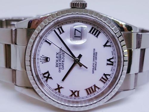 Rolex Date Just 36 Mm Zerado Completo