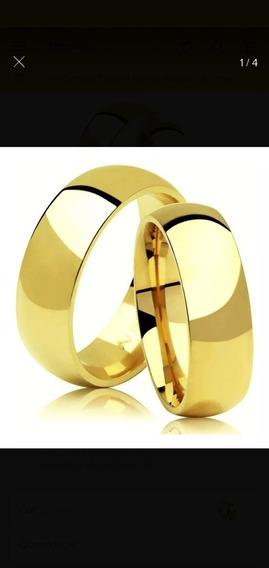 Aliança De Casamento 8 Gramas O Par Ouro 18 K