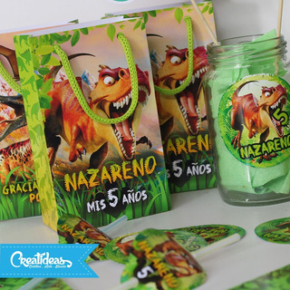 Dinosaurios Promo Cotillon Personalizad P/20 Niño + Fotoiman