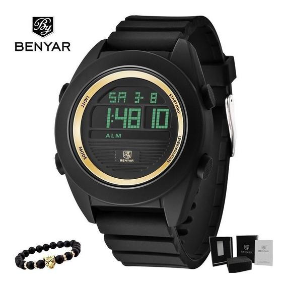 Relógio Masculino Benyar Digital Em Resina Gold