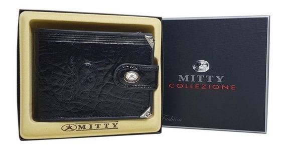 Carteira Mitty Couro Com Cantoneira - M1f