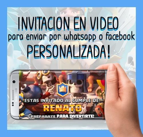Invitaciones De Cumpleaños Online - Clash Royale