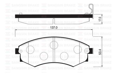 Pastilla Freno Hyundai Elantra 00-06 1.6 Del.