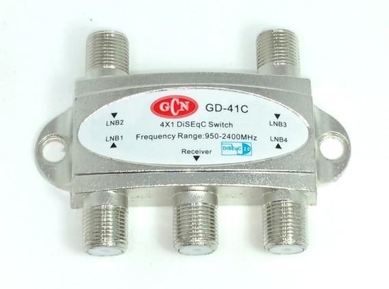 Chave Comutadora Diseqc 2.0 Quatro Antenas 4x1 Gcn Gecen