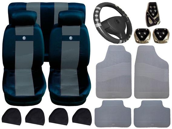 Kit Capa Banco Volante Tapete Pedaleira Volkswagen Fusca