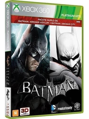 2 Jogos - Batman Asylum Game Of The Year Goty + City - Edição Jogo Do Ano - Midia Fisica Original E Lacrado - Xbox 360