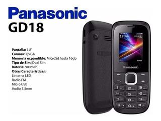 Celular Panasonic Gd18 2 Chips Fm/music/vídeo Play/lanterna