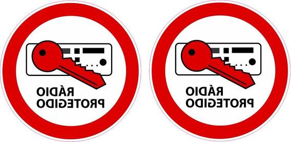 Kit Adesivo Rádio Protegido Gol Quadrado Interno Vw Ccr09152
